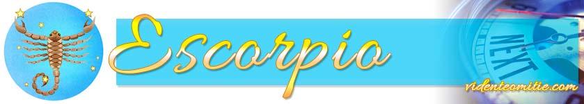 Horóscopo Semana Próxima Escorpio